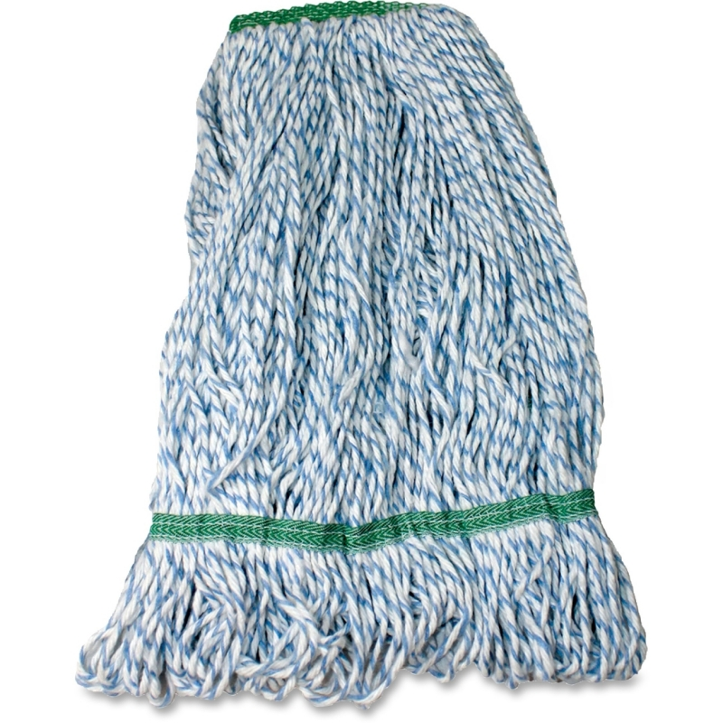 Impact Products Blue and White Rayon Saddle-Type Looped-End Finish Mop L630MD IMPL630MD