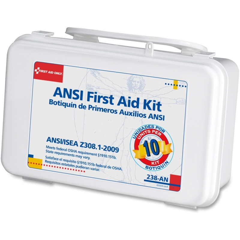 First Aid Only ANSI 10-unit First Aid Kit 238-AN FAO238AN