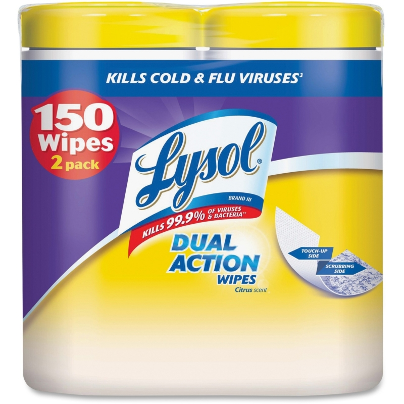 Lysol Dual Action Cleaning Wipes 84922 RAC84922