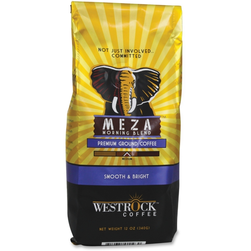Westrock Meza Morning Blend Ground Coffee MZM12GR WCCMZM12GR