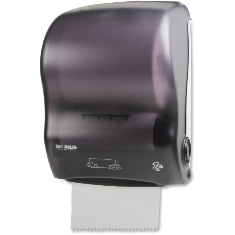 San Jamar Simplicity Hands-Free Mechanical Roll Towel Dispenser T7000TBK SJMT7000TBK