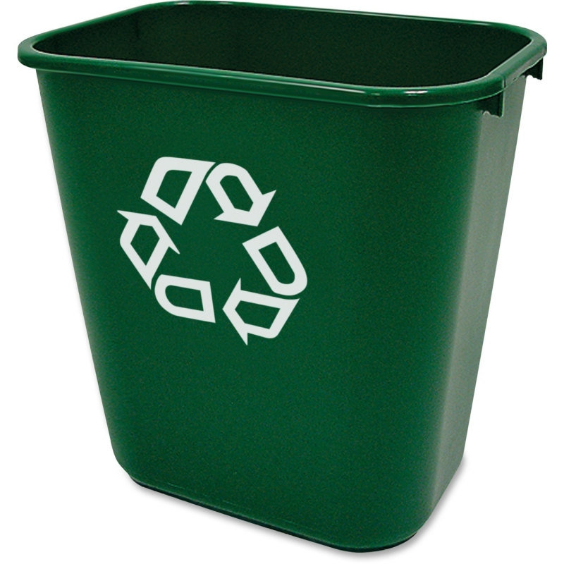 Rubbermaid Commercial Recycling Symbol Container 295606GN RCP295606GN