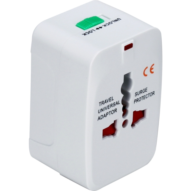 QVS Premium World Power Travel Adaptor Kit with Surge Protection PA-C3WH