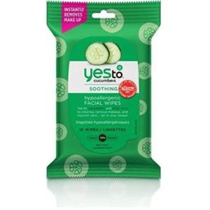 Yes To Cucumbers Hypoallergenic Facial Wipes, 10 Count 3 Pack - Travel Size 3371028-3-KIT