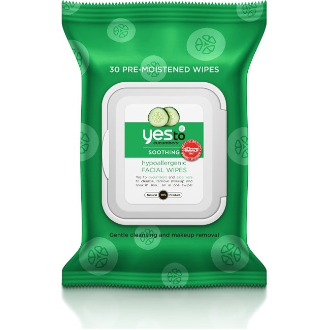 Yes To Cucumbers Hypoallergenic Facial Wipes, 30 Count Pack of 3 391028-3-KIT