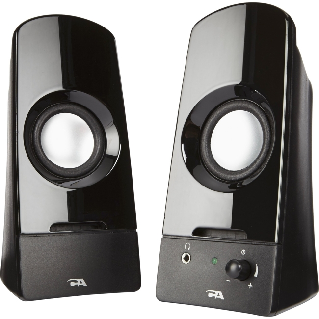 Cyber Acoustics 2.0 Powered Speaker System CA-2050 Sonic