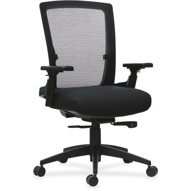 Lorell 3D Rotation Armrests Mid-back Chair 59520 LLR59520
