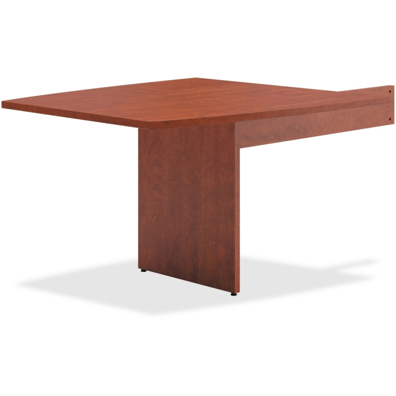 Basyx by HON Medium Cherry Slab Base End Table BLMT48BA1A1 BSXBLMT48BA1A1