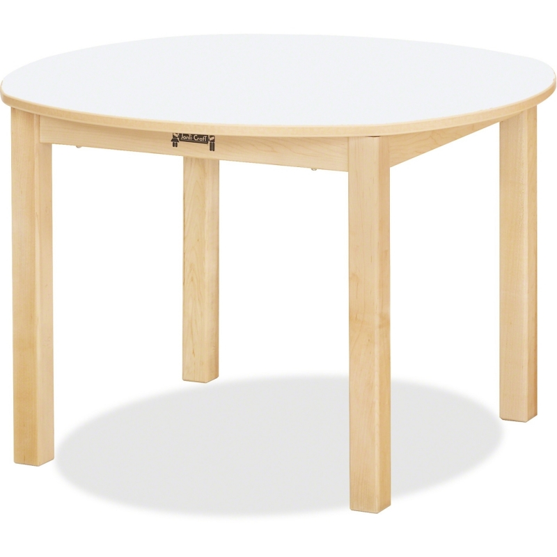 Jonti-Craft Multi-purpose White Round Table 56014JC JNT56014JC