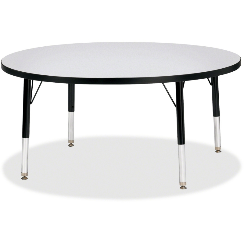 Berries Elementary Height Gray Top Color Edge Round Table 6468JCT180 JNT6468JCT180