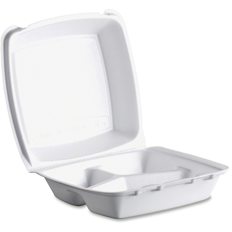 Dart Dart Triple-compartment Foam Container 85HT3 DCC85HT3