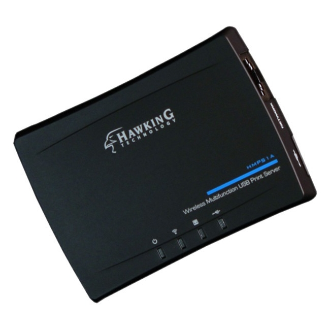 Hawking Wireless Multifunction USB Print Server HMPS1A