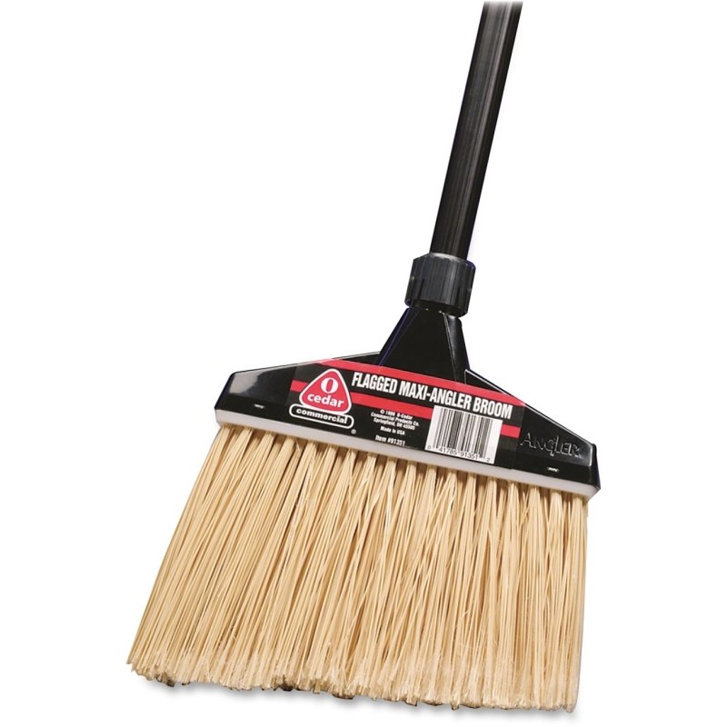 Diversey O-Cedar MaxiPlus Professional Angle Broom with Flagged Bristles 91351 DVO91351