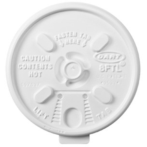 Dart Lids for Foam Cups and Containers 8FTL DCC8FTL