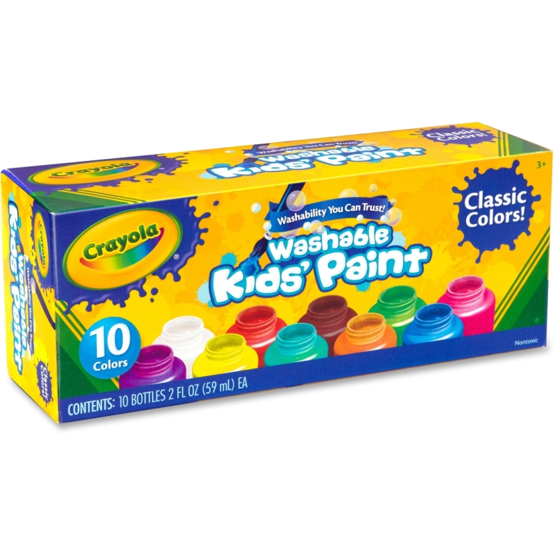 Crayola 10 ct. Washable Kids' Classic Paint 54-1205 CYO541205