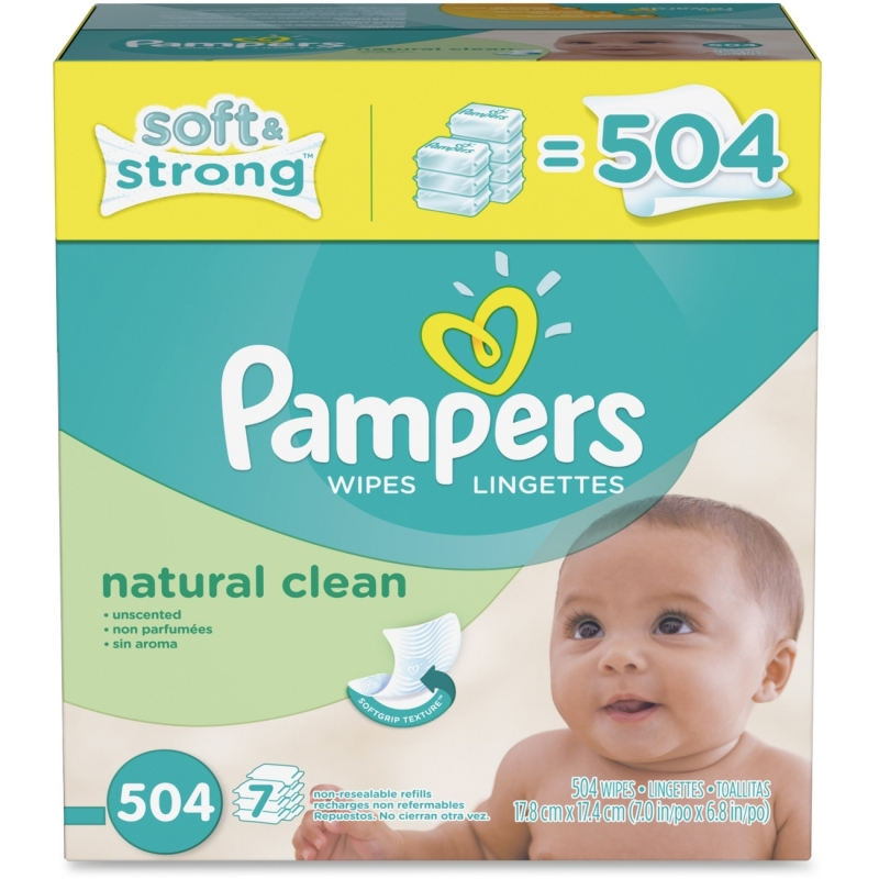 Pampers Natural Clean Wipes Box 28253 PGC28253