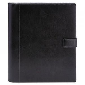 Genpak Textured Notepad Holder, 8 1/2 x 11, Leather-Like, Black UNV32653