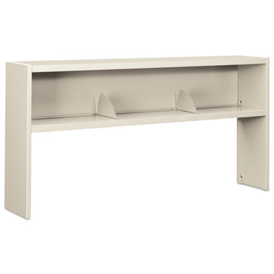 HON 38000 Series Stack On Open Shelf Hutch, 72w x 13 1/2d x 34 3/4h, Light Gray HON386572NQ