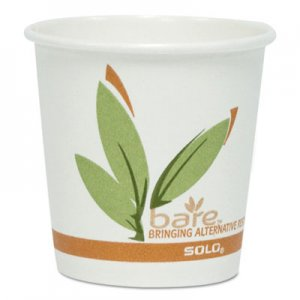 Dart Bare by Solo Eco-Forward Recycled Content PCF Paper Hot Cups, 4 oz, 1,000/Carton SCC374RC SCC 374RC
