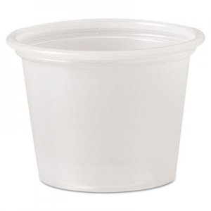 Dart Polystyrene Portion Cups, 1 oz, Translucent, 2500/Carton DCCP100N P100N