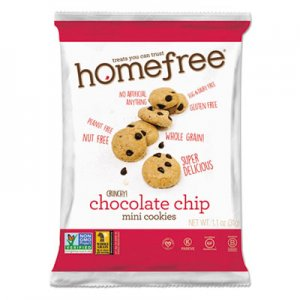 Homefree Gluten Free Chocolate Chip Mini Cookies, 1.1 oz Pack, 30/Carton HMF01873 LGFMCC30