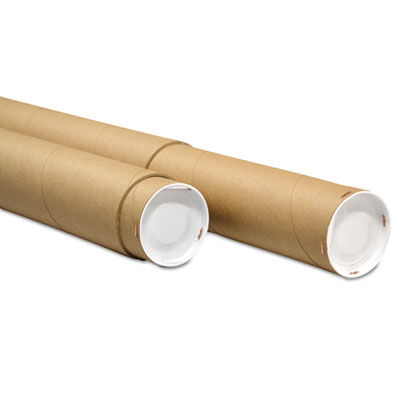 "Genpak Adjustable Round Mailing Tubes, 60l - 120l x 4 1/8"" dia., Brown Kraft, 8/Pack UFSATK460120"