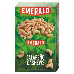 Emerald Snack Nuts, Jalapeno Cashews, 1.25 oz Tube, 12/Box DFD94217 94217