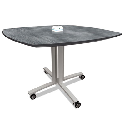 Nomad by Palmer Hamilton Reload Mobile Charging Table, 36 x 36 x 29, Pewter PHLRL2936PB RL2936PB