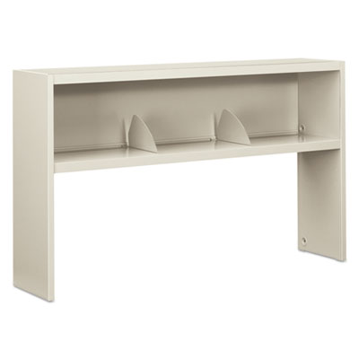 HON 38000 Series Stack On Open Shelf Hutch, 60w x 13 1/2d x 34 3/4h, Light Gray HON386560NQ