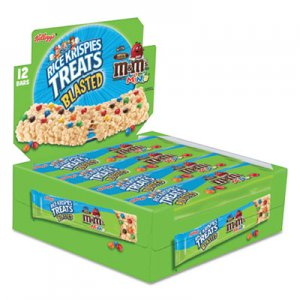 Kellogg's Rice Krispies Treats, Original Marshmallow with M&Ms, 2.1 oz Bar, 12/Box KEB13189 3800012581