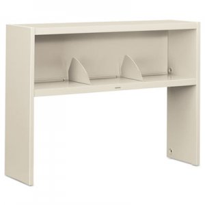 HON 38000 Series Stack On Open Shelf Hutch, 48w x 13 1/2d x 34 3/4h, Light Gray HON386548NQ