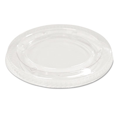Boardwalk Souffle/Portion Cup Lids f/3 1/4 to 4 oz Cups, Clear, 2400/Carton BWKYLS3FR
