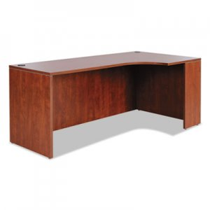 Alera Valencia Right Corner Credenza Shell, 72w x 36d x 29 1/2h, Medium Cherry ALEVA25R7236MC
