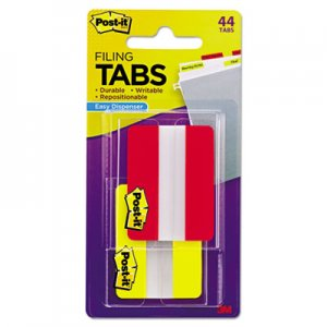 Post-it Tabs File Tabs, 2 x 1 1/2, Solid, Red/Yellow, 44/Pack MMM6862RY 686-2RY