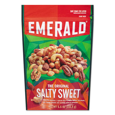 Emerald Snack Nuts, Salty Sweet Mix, 5.5 oz Bag, 6/Carton DFD93064 93064