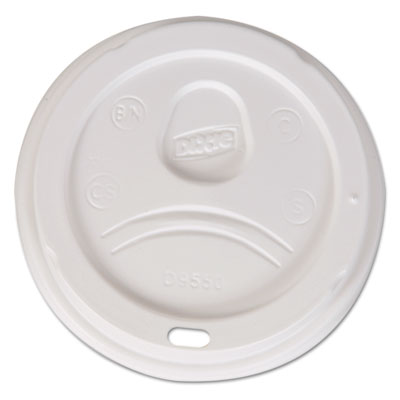 Dixie Sip-Through Dome Hot Drink Lids, Fits 20, 24 oz Cups, White, 1000/Carton DXED9550CT D9550
