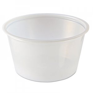 Fabri-Kal Portion Cups, 4oz, Clear, 125/Sleeve, 20 Sleeves/Carton FABPC400 9500517