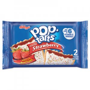 Kellogg's Pop Tarts, Frosted Strawberry, 3.67 oz, 2/Pack, 6 Packs/Box KEB31732 3800031732