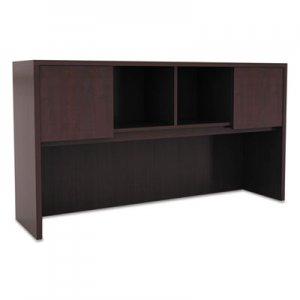 Alera Valencia Series Hutch with Doors, 58 7/8w x 15d x 35 1/2h, Mahogany ALEVA286015MY
