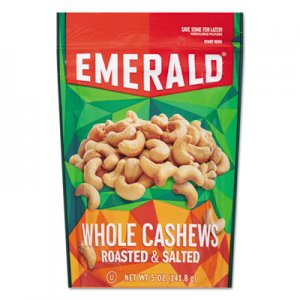 Emerald Roasted & Salted Cashew Nuts, 5 oz Pack, 6/Carton DFD93364 93364