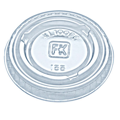 Fabri-Kal Portion Cup Lids, Fit 0.75-1 oz Portion Cups, Clear, 2500/Carton FABXL100PC 9505082