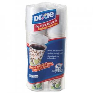 Dixie Combo Bag, Paper Hot Cups, 10oz, 50/Pack, 6 Packs/Carton DXE5310CMB600CT DIX 5310COMBO600