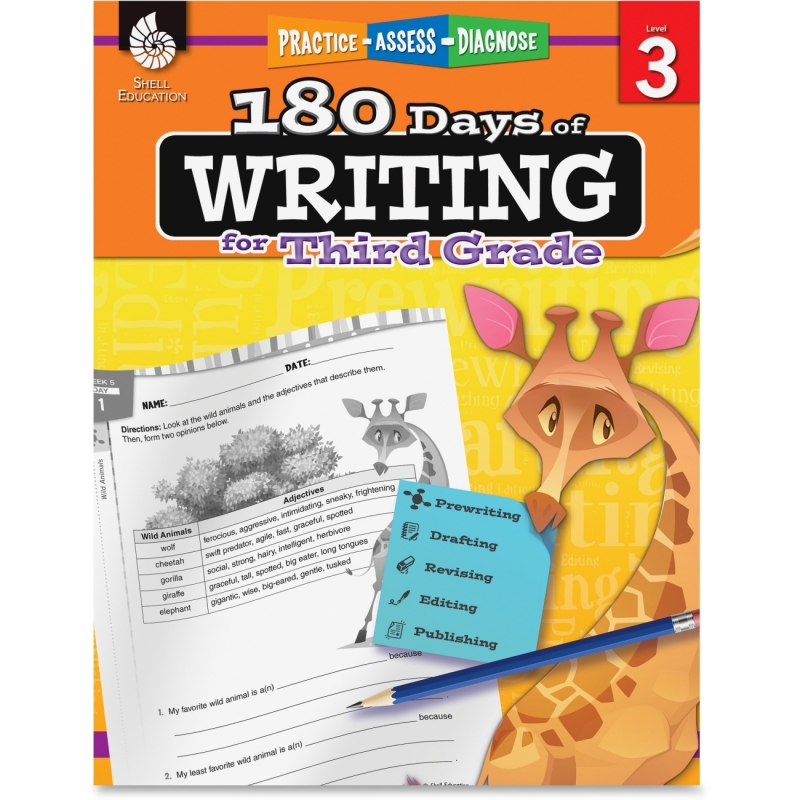Shell 3rd Grade 180 Days of Writing Book 51526 SHL51526