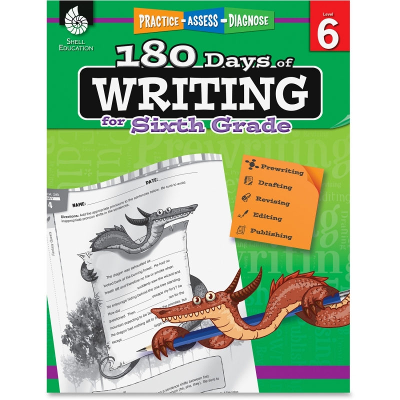 Shell 6th Grade 180 Days of Writing Book 51529 SHL51529