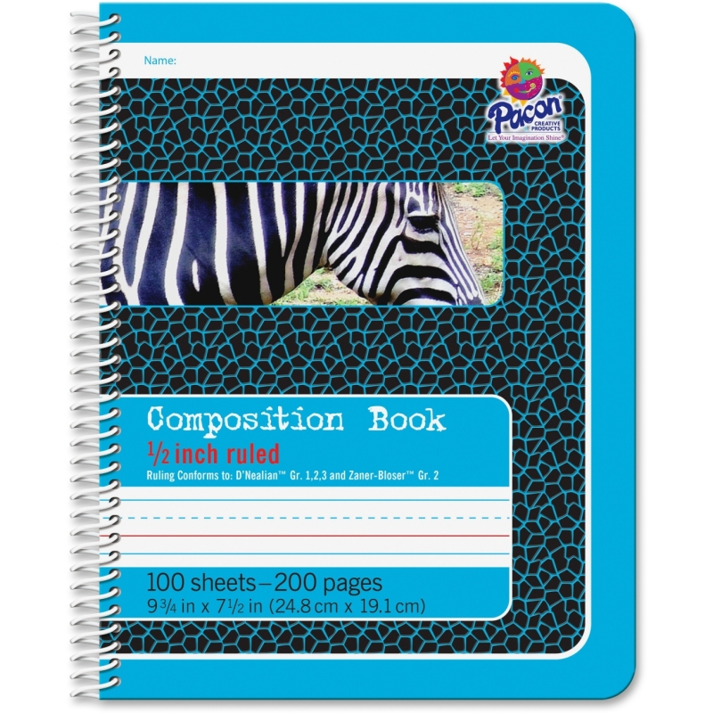 "Pacon 1/2"" Short Way Ruled Composition Book 2429 PAC2429"
