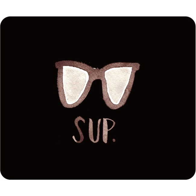 OTM Artist Prints Black Mouse Pad, Sup Dude OP-MPV1BM-ART-15
