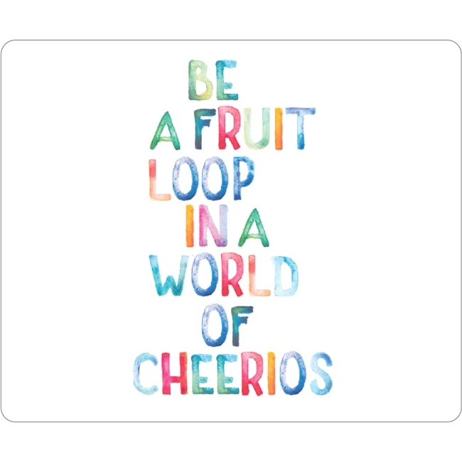 OTM Quotes Prints White Mouse Pad, Fruit Loop OP-MPV1WM-QTE-03