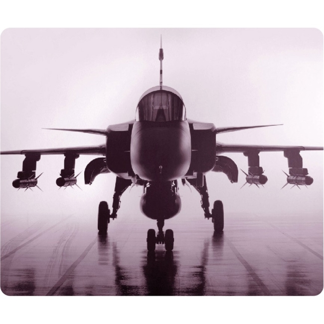 OTM Rugged Prints Black Mouse Pad, Airplane OP-MPV1BM-RGD-01