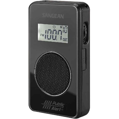 Sangean AM / FM / Weather Alert Pocket Radio DT-500W