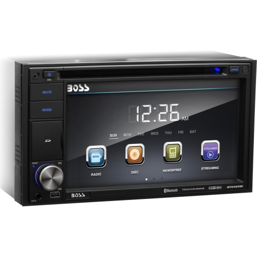 "Boss Audio In-Dash Double-DIN 6.2"" Touchscreen Monitor Bluetooth DVD Player BV9362BI"